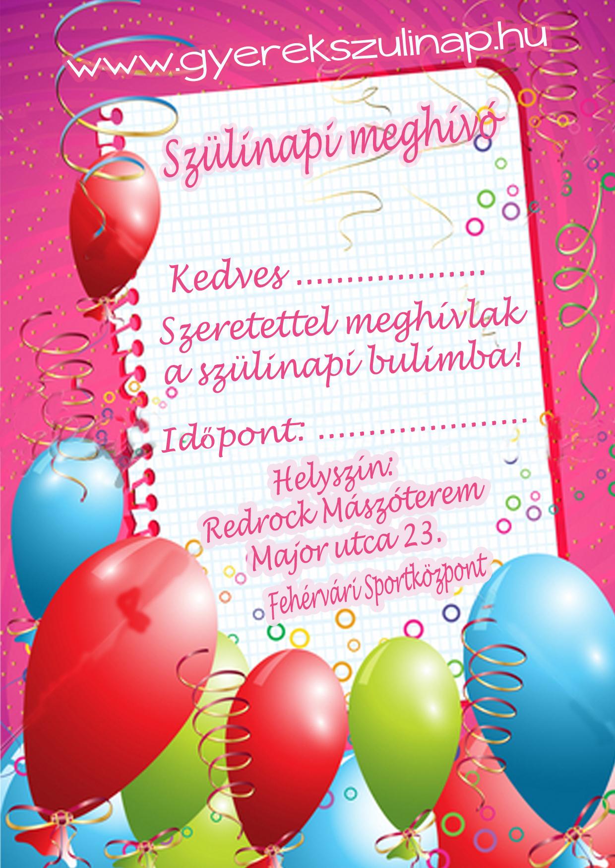 letölthető születésnapi meghívó gyerekeknek Meghívók | Redrock Gyerek Szülinapok letölthető születésnapi meghívó gyerekeknek